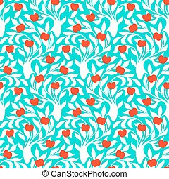 Pattern with trees - Vector seamless pattern with trees...