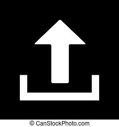 White upload icon