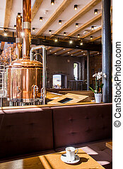 Modern brewery restaurant
