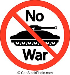 No war sign on white - No war sign on white background...