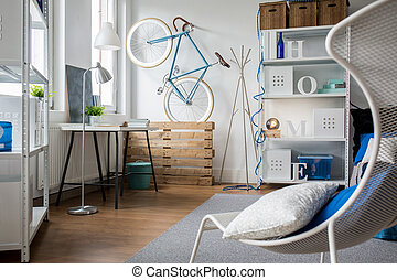 Comfortable and functional studio flat for young person