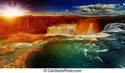 Godafoss, gods waterfall