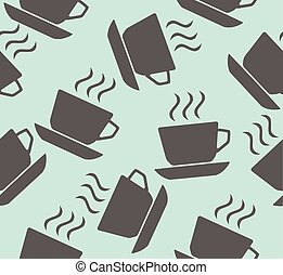 Coffee - vector coffee seamless background