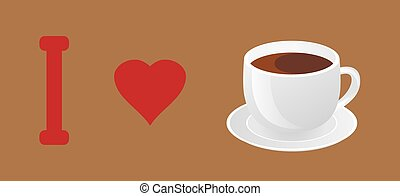 Coffee - vector cup of coffee banner