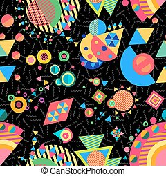 Seamless pattern geometry background colorful