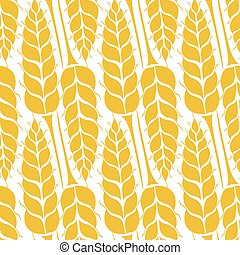 Vector pattern with grains and wheat - Vector seamless...