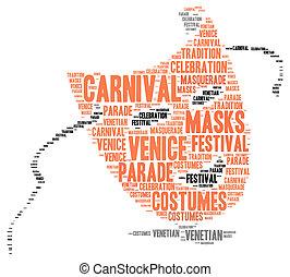 Carnival of Venice in Italy
