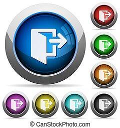 Exit button set