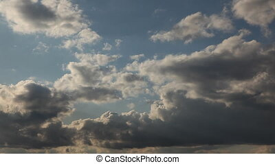 Time-lapse Clouds Over Deep Blue Sky - 1080 - Beautiful...