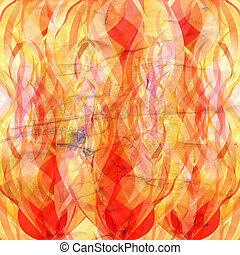 flames of fire - beautiful bright flame of fire on white...