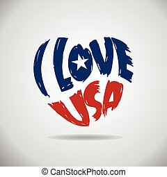 I love USA Heart Logo.