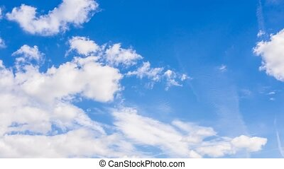 4K timelapse of real natural cloudy blue sky