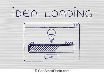 pop-up window with message Idea Loading - Idea loading:...