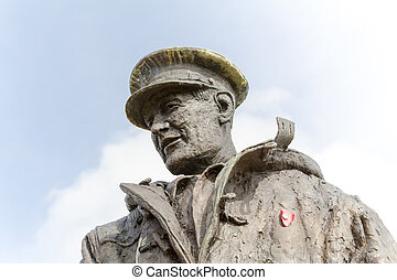 Statue of Sir Archibald David Stirling, founder of the...