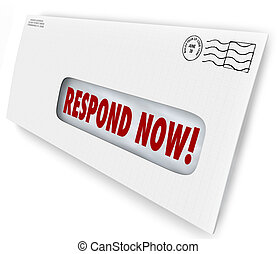 Respond Now Envelpe Mailer Letter Immediate Reply Needed -...