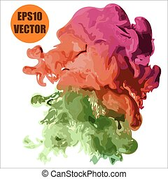abstract color cloud paint vector background