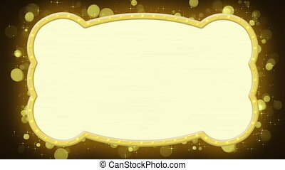 shiny gold banner loopable animation - shiny gold banner...