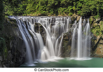 The famous Shifen Waterfall at New Taipei City, Taiwan