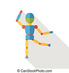 puppet doll flat icon