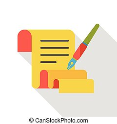 paper poetry flat icon