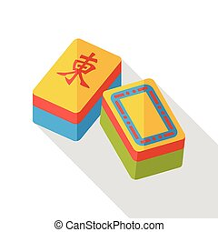 Chinese Mahjong flat icon