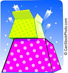 giftbox - Illustration of a giftbox with stars