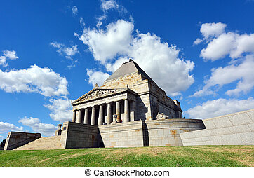 Shrine of Remembrance In Melbourne Australia - MELBOURNE -...