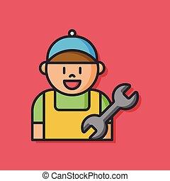 worker man vector icon
