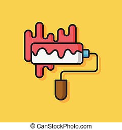 art paint brush vector icon