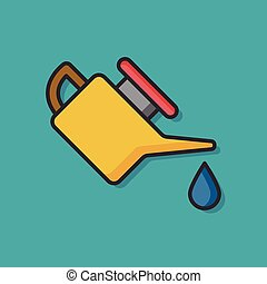 oil gasoline vector icon