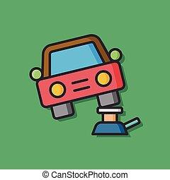 Car jack vector icon