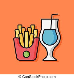 fries and soda icon