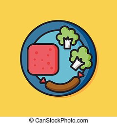 breakfast food vector icon