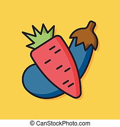 vegetable salad vector icon