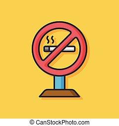 no smoke vector icon