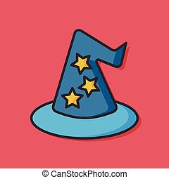 magic hat vector icon