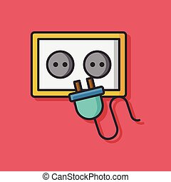 plug socket vector icon
