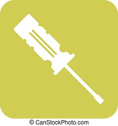 Screw Driver - Screwdrivers, work, construction icon vector...