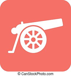 Cannon - Canon, war, weapon icon vector image Can also be...