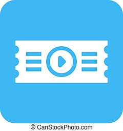 Movie Ticket - Movie, tickets, coupon icon vector image Can...