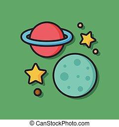 Space planet vector icon