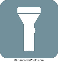 Flashlight, light, object icon vector image Can also be used...