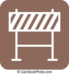 Barricade, warning, barrier icon vector image. Can also be...