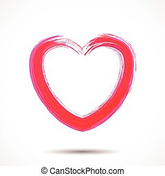 Valentines Day card with painted heart