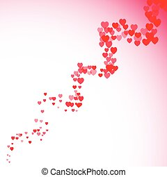 Valentines Day card with blurred hearts twister - Valentines...