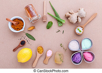 Alternative skin care and homemade scrubs with natural...