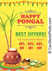 Happy Pongal celebration shopping offer - vector...