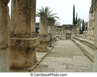 Capernaum Synagogue, Israel - The Great Synagogue of...