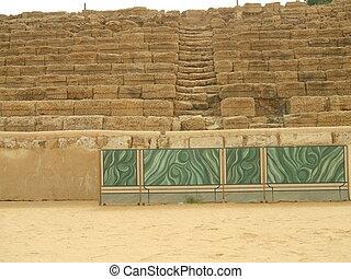 Roman Theater, Caesarea, Israel - Caesarea Maritima ruins,...