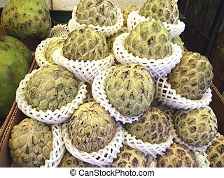 Noni Morinda citrifolia - grocery store tropical fruit...